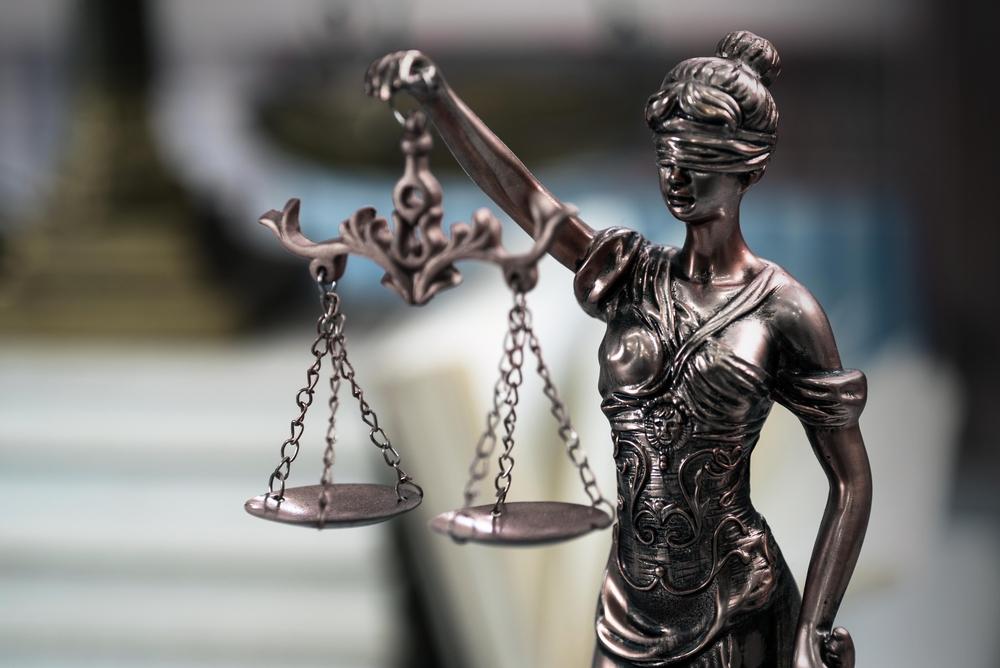 lady justice statue closeup